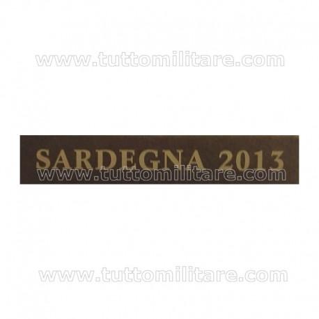 Fascetta Metallo SARDEGNA 2013