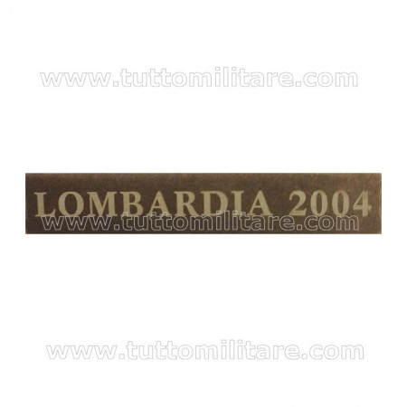Fascetta Metallo LOMBARDIA 2004