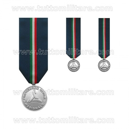 Medaglia Argento Protezione Civile