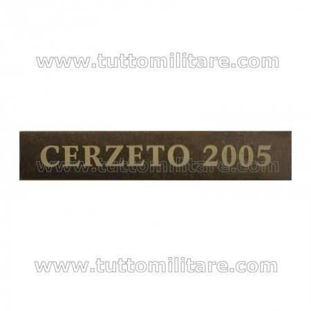 Fascetta Metallo CERZETO 2005
