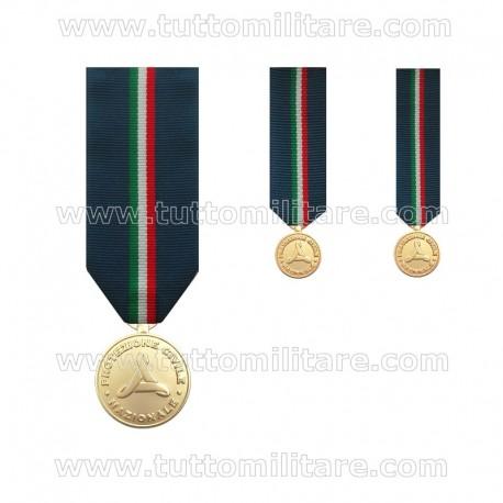 Medaglia Oro Protezione Civile
