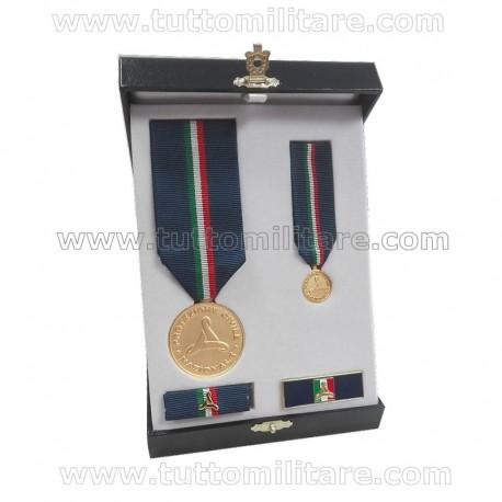 Set Benemerenza Oro Protezione Civile Personale Militare