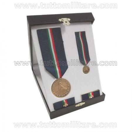 Set Benemerenza Bronzo Protezione Civile Personale Militare