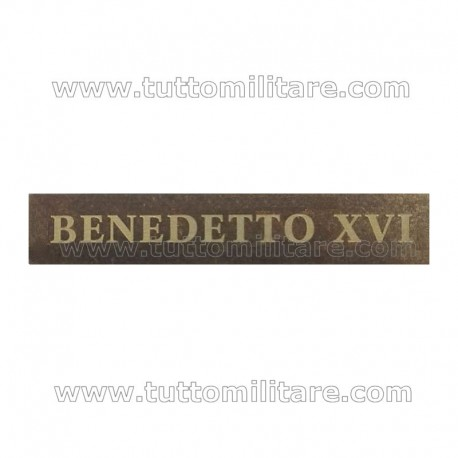 Fascetta Metallo BENEDETTO XVI