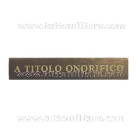 Fascetta Metallo A TITOLO ONORIFICO