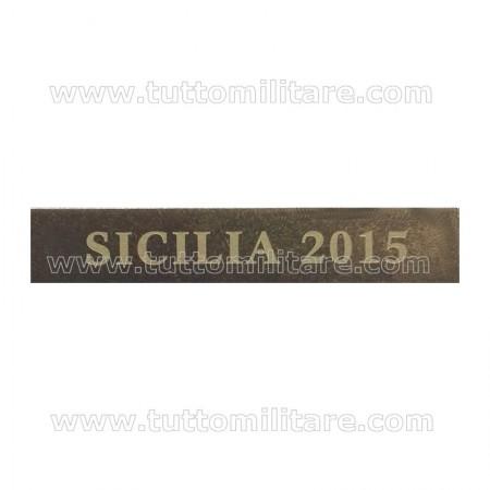 Fascetta Metallo SICILIA 2015