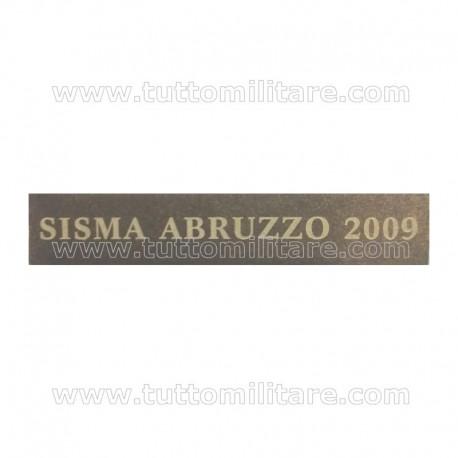 Fascetta Metallo SISMA ABRUZZO 2009