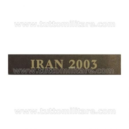 Fascetta Metallo IRAN 2003