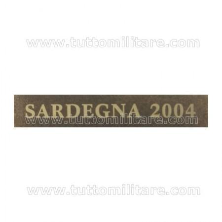 Fascetta Metallo SARDEGNA 2006